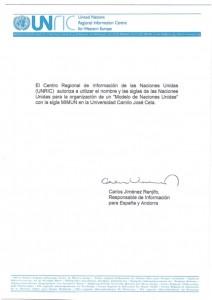 Carta Naciones Unidas MIMUN